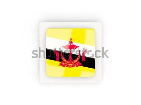 Piazza icona bandiera Tagikistan metal frame Foto d'archivio © MikhailMishchenko