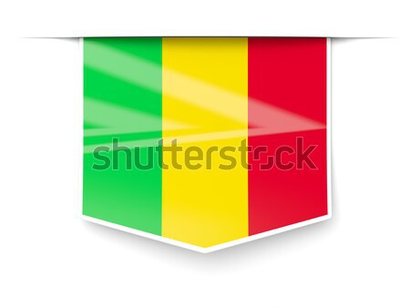 Flag label of mali Stock photo © MikhailMishchenko
