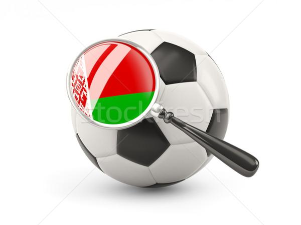 Voetbal vlag Wit-Rusland geïsoleerd witte Stockfoto © MikhailMishchenko