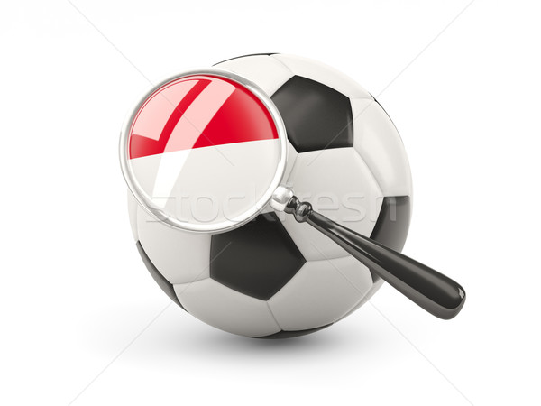 Voetbal vlag Indonesië geïsoleerd witte Stockfoto © MikhailMishchenko