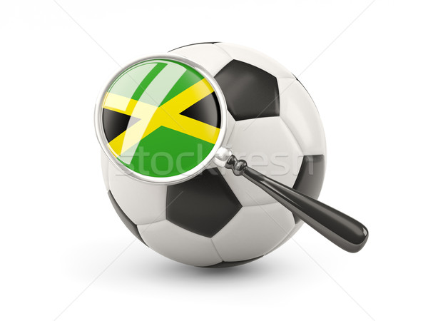 Football with magnified flag of jamaica Stock photo © MikhailMishchenko