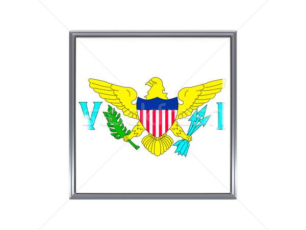Tér ikon zászló USA Virgin-szigetek fém Stock fotó © MikhailMishchenko