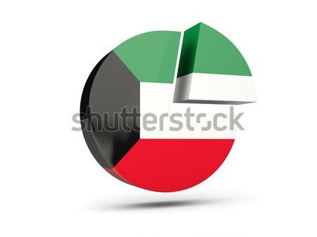 Icona bandiera Kuwait lucido segno bianco Foto d'archivio © MikhailMishchenko