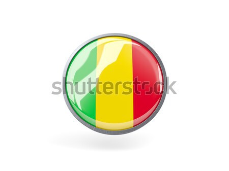 Round icon with flag of mali Stock photo © MikhailMishchenko