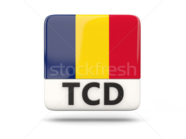 Square icon with flag of chad Stock photo © MikhailMishchenko