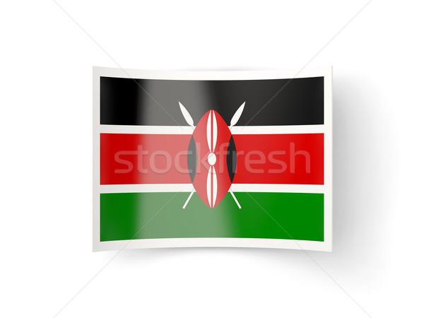 Bent icon with flag of kenya Stock photo © MikhailMishchenko
