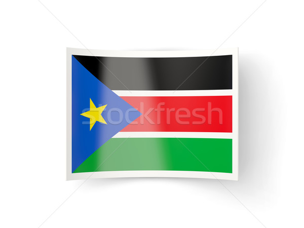 Bent icon with flag of south sudan Stock photo © MikhailMishchenko