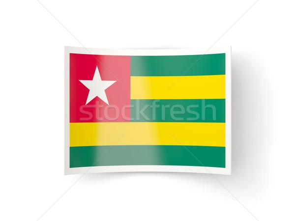 Icona bandiera Togo isolato bianco paese Foto d'archivio © MikhailMishchenko