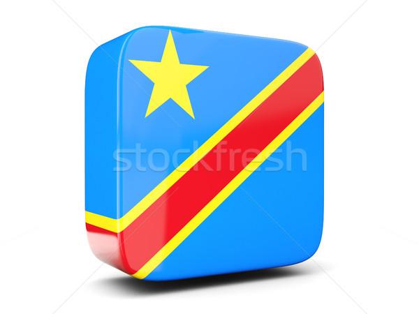 Tér ikon zászló demokratikus köztársaság Kongó Stock fotó © MikhailMishchenko
