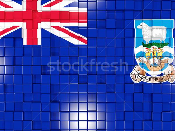 Tér alkatrészek zászló Falkland-szigetek 3D mozaik Stock fotó © MikhailMishchenko