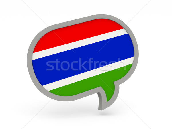 Chat icon with flag of gambia Stock photo © MikhailMishchenko