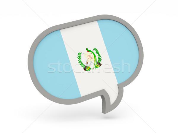 Conversar ícone bandeira Guatemala isolado branco Foto stock © MikhailMishchenko