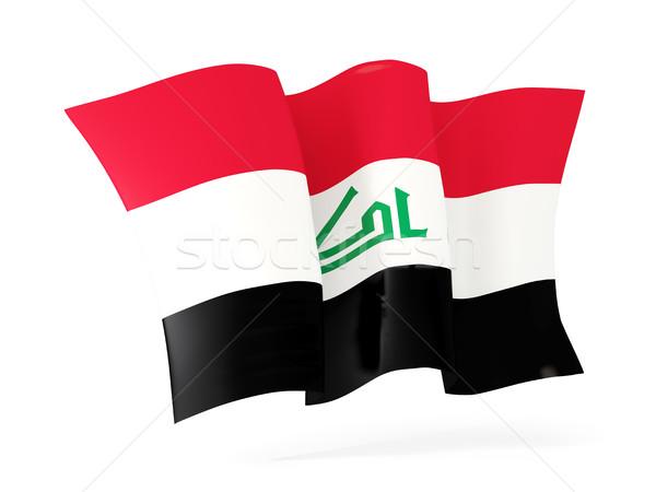 Bandeira Iraque ilustração 3d isolado branco Foto stock © MikhailMishchenko