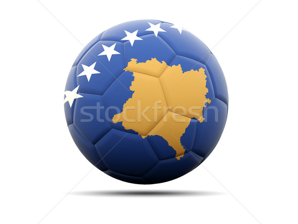 Futebol bandeira Kosovo ilustração 3d futebol esportes Foto stock © MikhailMishchenko