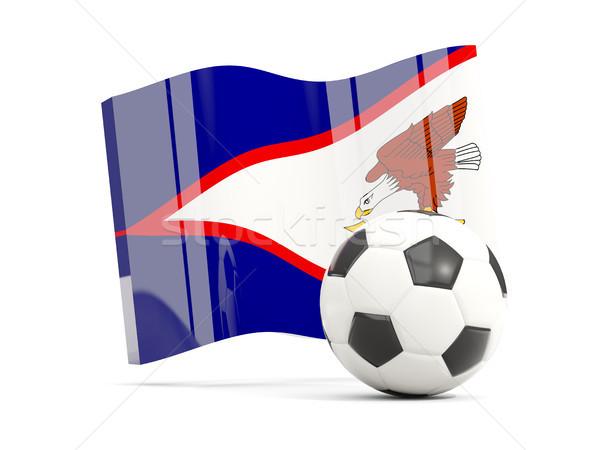 Voetbal vlag amerikaanse geïsoleerd witte Stockfoto © MikhailMishchenko