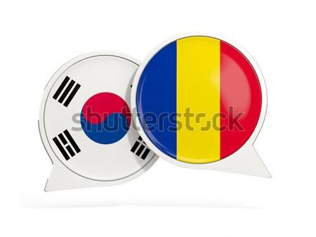 Bandeira adesivo isolado branco ilustração 3d etiqueta Foto stock © MikhailMishchenko