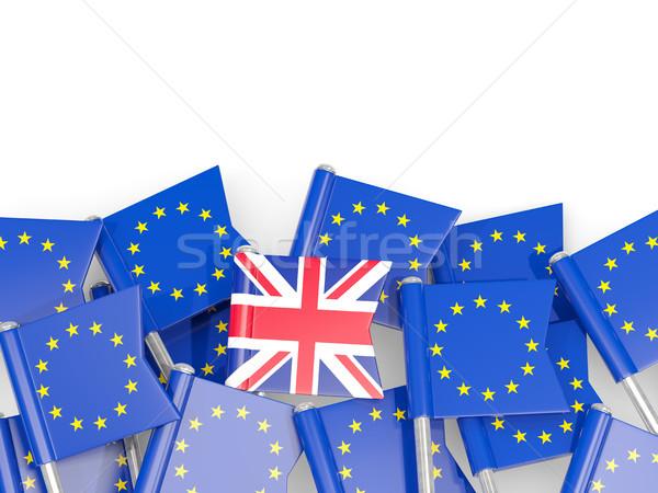 флаг Евросоюз изолированный белый 3d иллюстрации Европа Сток-фото © MikhailMishchenko