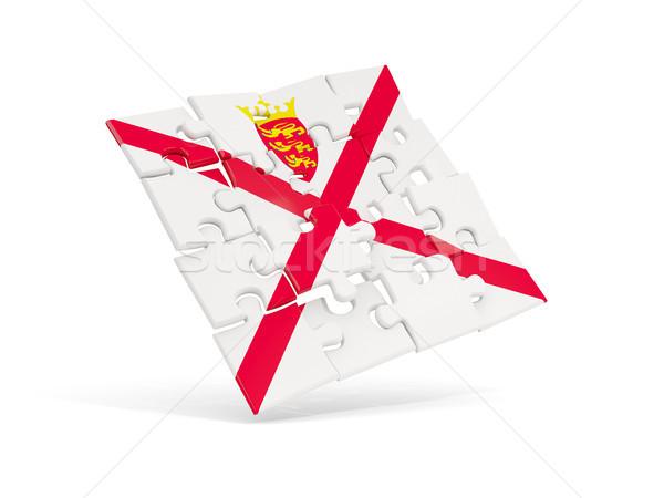 Puzzle flag of jersey isolated on white Stock photo © MikhailMishchenko