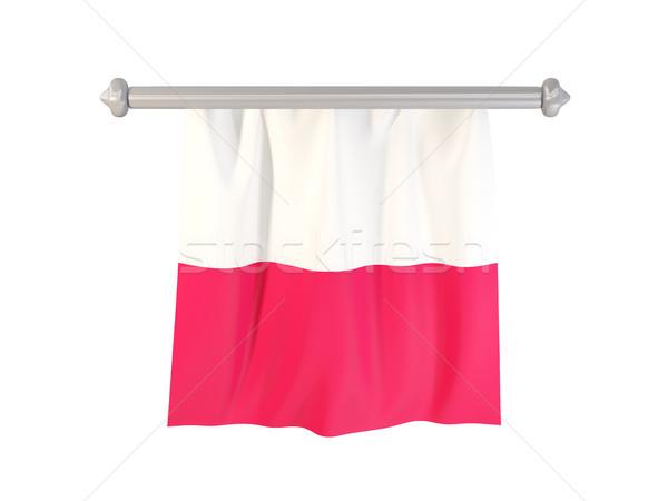 Bandiera Polonia isolato bianco illustrazione 3d etichetta Foto d'archivio © MikhailMishchenko