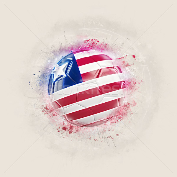 Grunge football with flag of liberia Stock photo © MikhailMishchenko