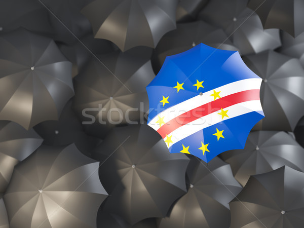 Umbrella with flag of cape verde Stock photo © MikhailMishchenko