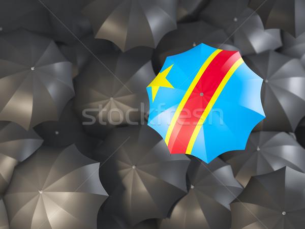 Dach Flagge demokratischen Republik Kongo top Stock foto © MikhailMishchenko