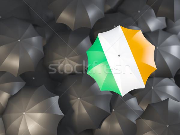 Esernyő zászló Írország felső fekete esernyők Stock fotó © MikhailMishchenko