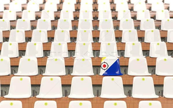 Stadium seat with flag of bonaire Stock photo © MikhailMishchenko