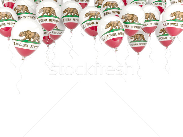 Balloons frame with flag of california. United states local flag Stock photo © MikhailMishchenko
