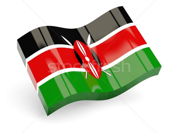 3D zászló Kenya izolált fehér hullám Stock fotó © MikhailMishchenko