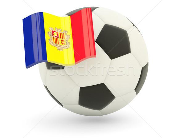 Fußball Flagge Andorra isoliert weiß Sport Stock foto © MikhailMishchenko