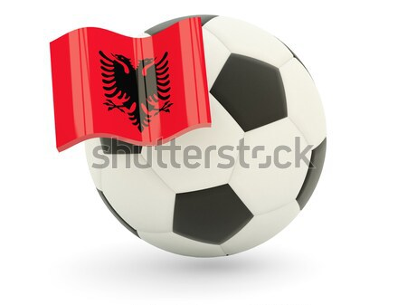 Flag of jersey with football in front of it Stock photo © MikhailMishchenko