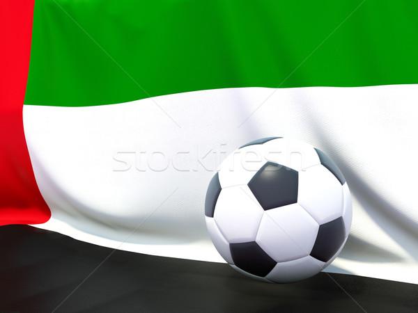 Bandeira Emirados Árabes Unidos futebol equipe país Foto stock © MikhailMishchenko