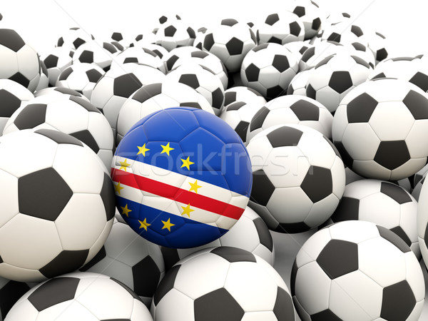 Football with flag of cape verde Stock photo © MikhailMishchenko