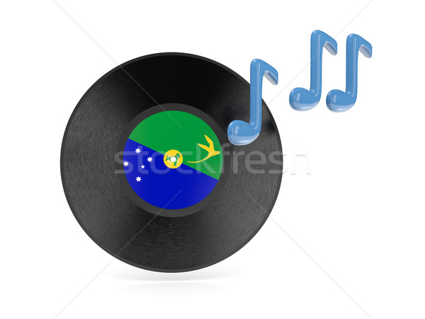 Vinyl disk with flag of christmas island Stock photo © MikhailMishchenko