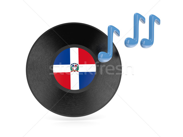 Vinyl disk with flag of dominican republic Stock photo © MikhailMishchenko