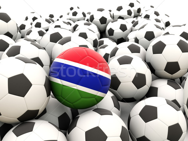 サッカー フラグ ガンビア 夏 ストックフォト © MikhailMishchenko