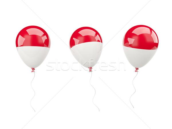 Ar balões bandeira Mônaco isolado branco Foto stock © MikhailMishchenko