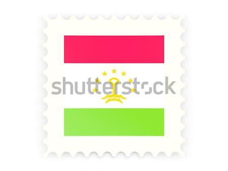 Postabélyeg ikon Niger izolált fehér felirat Stock fotó © MikhailMishchenko