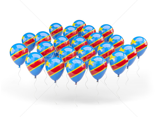 Balloons with flag of democratic republic of the congo Stock photo © MikhailMishchenko
