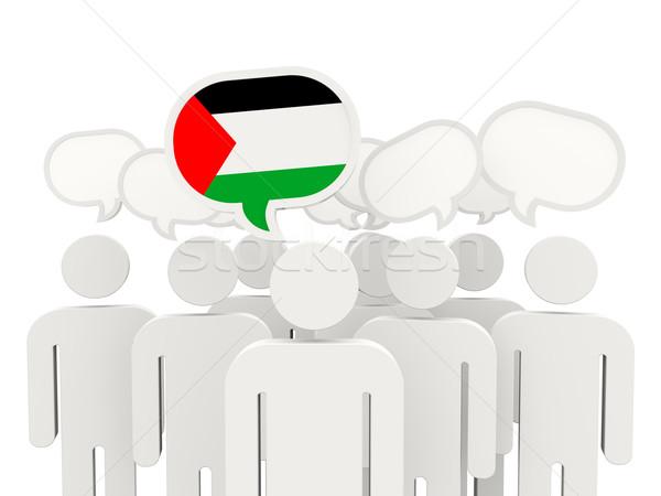 People with flag of palestinian territory Stock photo © MikhailMishchenko