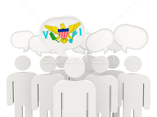 Emberek zászló USA Virgin-szigetek izolált fehér Stock fotó © MikhailMishchenko