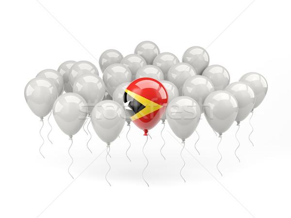 Air balloons with flag of east timor Stock photo © MikhailMishchenko