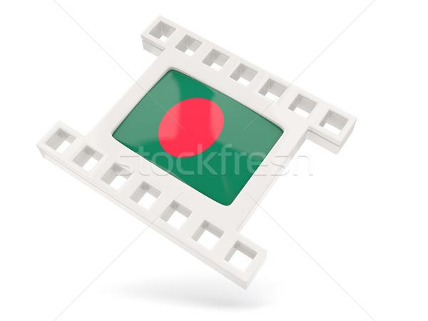 Film ikon zászló Banglades izolált fehér Stock fotó © MikhailMishchenko