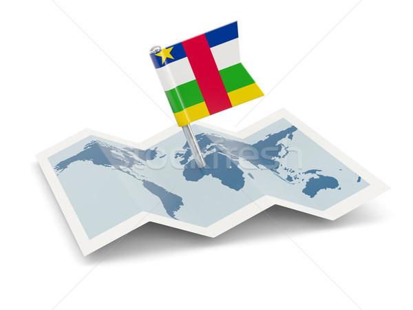 Térkép zászló központi afrikai köztársaság izolált Stock fotó © MikhailMishchenko