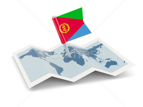 карта флаг Эритрея изолированный белый Сток-фото © MikhailMishchenko