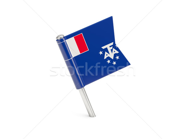 Flag pin of french southern territories Stock photo © MikhailMishchenko