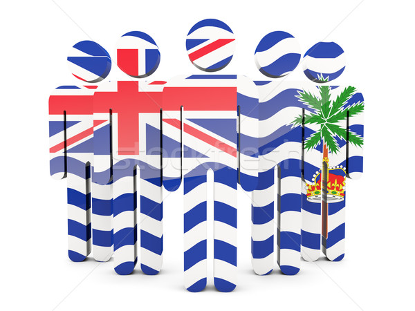 People with flag of british indian ocean territory Stock photo © MikhailMishchenko