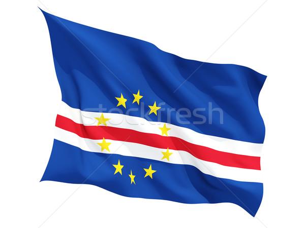 Stock photo: Waving flag of cape verde