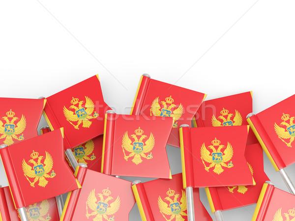 флаг Pin Черногория изолированный белый фон Сток-фото © MikhailMishchenko